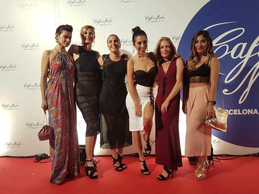 La actriz andrea Tivadar, Mara giliberti, la estilista Bettina Gariglio y Gabby Rucci.